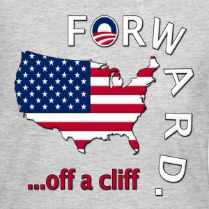 Anti Obama Forward Off a Cliff Election 2012 Long Sleeve Shirts - Women's Long Sleeve Jersey T-Shirt