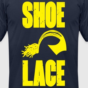 Shoelace Dread Helmet t-shirt - Men's T-Shirt by American Apparel