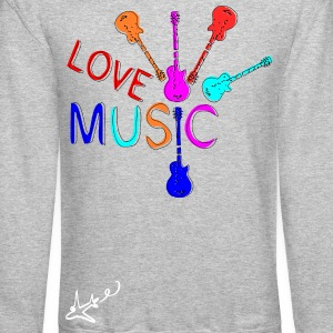 Love Music Guitars Men's Crewneck Sweatshirt - Crewneck Sweatshirt