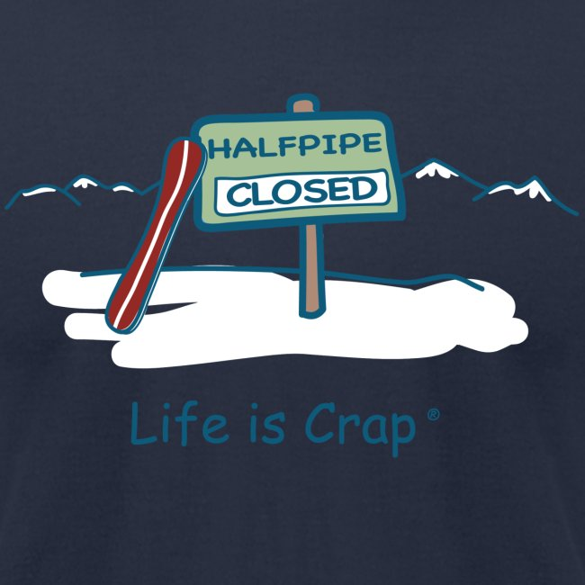 Half Pipe Closed Men s T-Shirt by American Apparel 88af23139