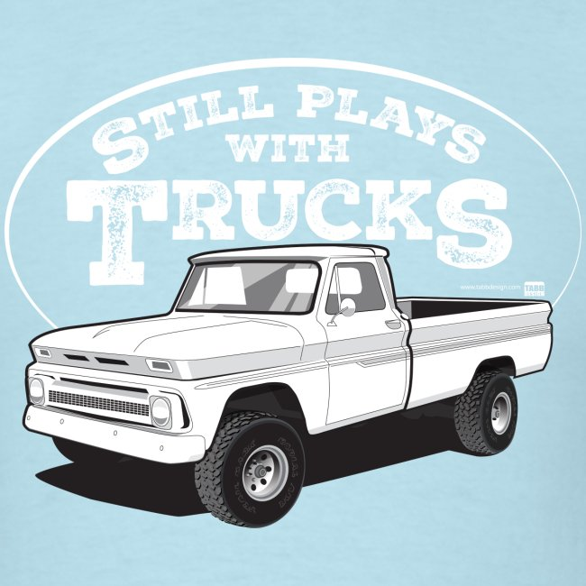 1964-66 C10 Longbed Fleetside 4x4 Tee (White graphic)