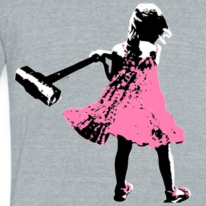 Axe Girl T-Shirts - Unisex Tri-Blend T-Shirt by American Apparel
