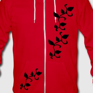 Cool plants pattern Unisex Fleece Zip Hoodie by American Apparel - Unisex Fleece Zip Hoodie by American Apparel