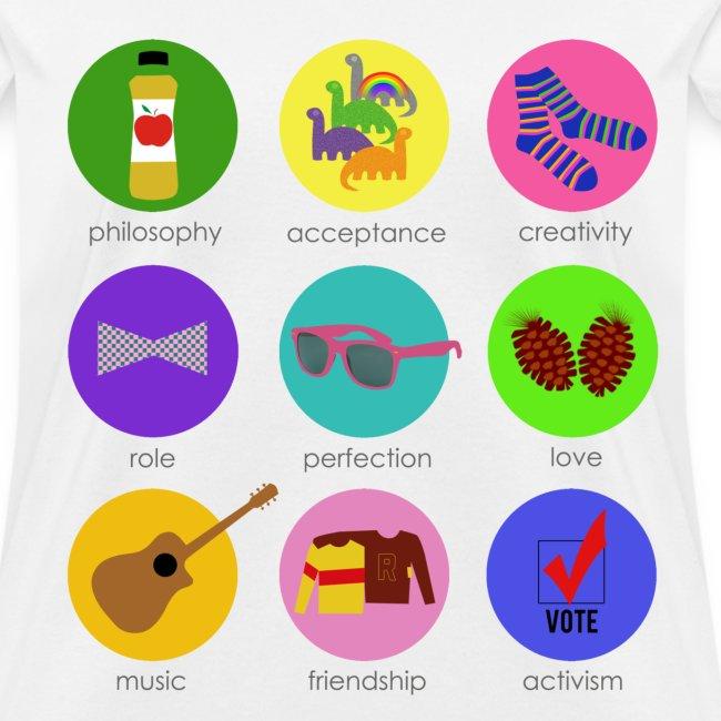 Darren Criss Buttons - Custom - Std Wt T | Women's T-Shirt