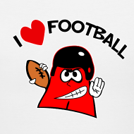 Design ~ I Love Football. TM Ladies V-Neck Shirt