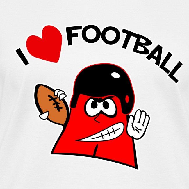 I Love Football. TM Ladies V-Neck Shirt
