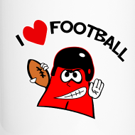 Design ~ I love football. TM  Travel Mug
