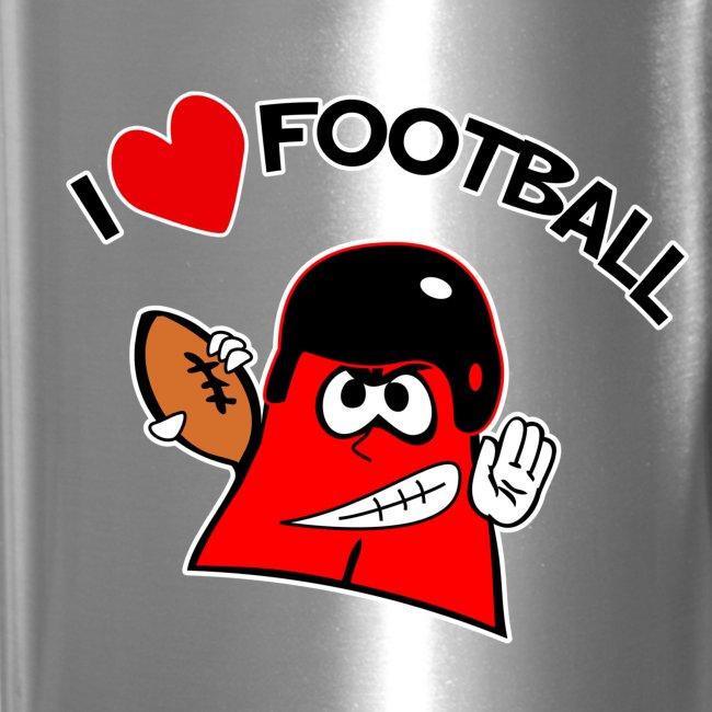I love football. TM  Travel Mug