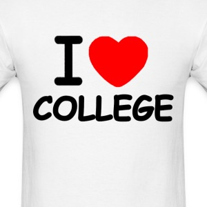 I Love College medium weight - Men's T-Shirt