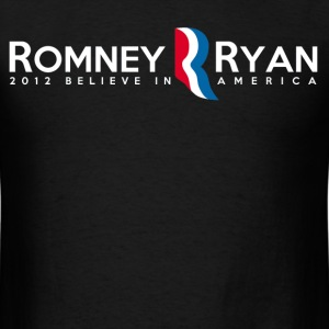 Romney Ryan 2012 believe in america - Men's T-Shirt