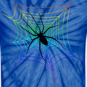 black_widow_spider_rainbow_web T-Shirts - Unisex Tie Dye T-Shirt