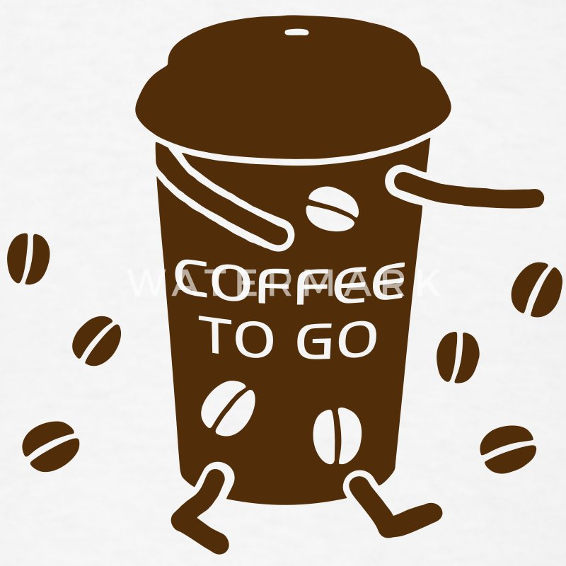 Coffee to go v t shirt spreadshirt for Coffee to go