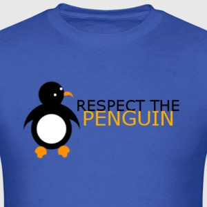 Respect The Penguin Male - Men's T-Shirt