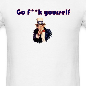 go f**k yourself invisible Obama Eastwooding T-Shi - Men's T-Shirt