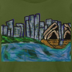 CITYMELTS SYDNEY SKYLINE T-SHIRT - Men's T-Shirt by American Apparel