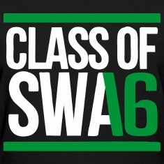 CLASS OF SWAG (2016) Green with bands Women's T-Shirts