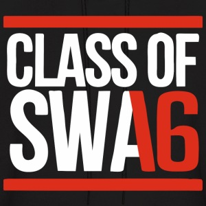 CLASS OF SWAG (2016) red with bands Hoodies - Men's Hoodie