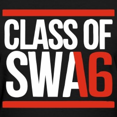 CLASS OF SWAG (2016) red with bands Women's T-Shirts