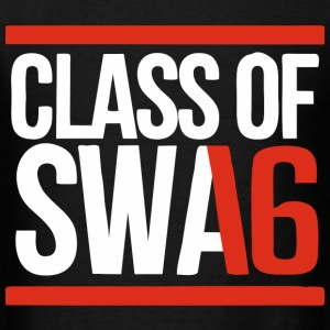 CLASS OF SWAG (2016) red with bands T-Shirts - Men's T-Shirt