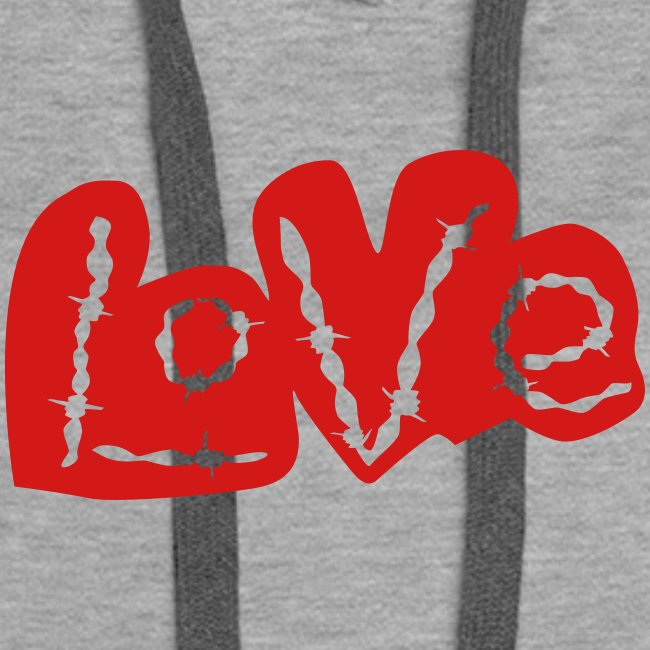 Love barbed wire heart