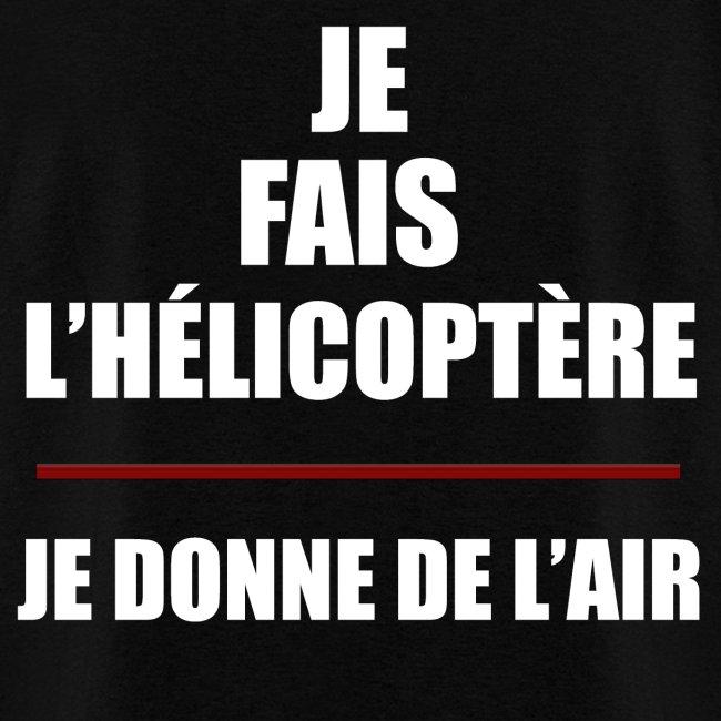 T-shirt hélicoptère