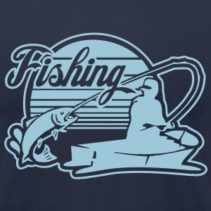 fishing T-Shirts - Men's T-Shirt by American Apparel