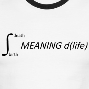 Calculus Meaning of Life Shirt - Men's Ringer T-Shirt