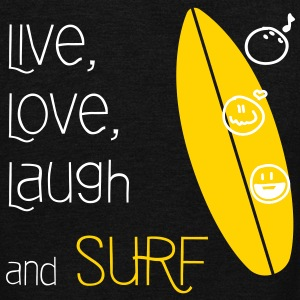 Live, Love, Laugh & Surf - Unisex Fleece Zip Hoodie by American Apparel