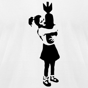 KCCO - Bomb Girl Banksy T-Shirts - Men's T-Shirt by American Apparel