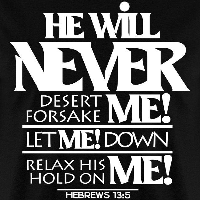 HE Will Never - Men