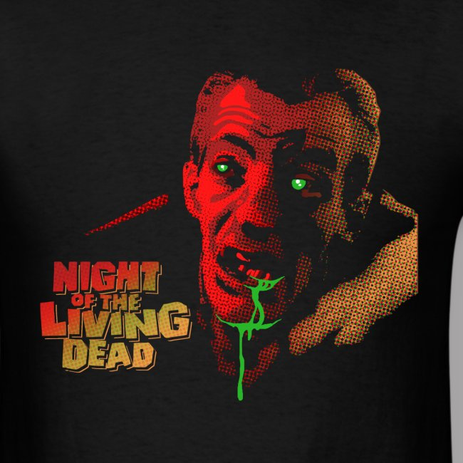 Night of The Living Dead Cemetery Zombie Men's Shirt