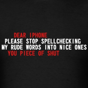 Iphone Scumbag Autocorrect T-Shirts - Men's T-Shirt