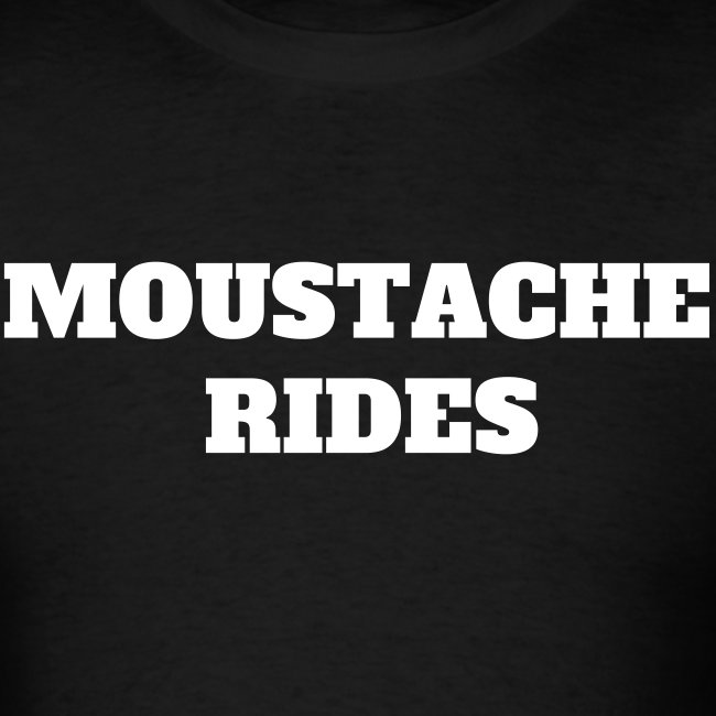 'MOUSTACHE RIDES' T-shirt as worn by Sam Elliott in the movie Mask (1985)