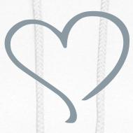 Design ~ gray blue heart