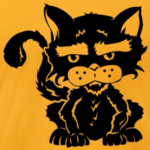 Halloween Cat - Men's T-Shirt by American Apparel