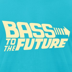 Bass to the Future T-Shirts - Men's T-Shirt by American Apparel