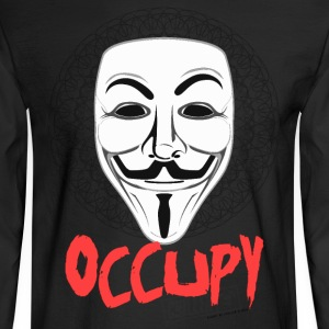 Occupy - Guy Fawkes Mask Long Sleeve Shirts - Men's Long Sleeve T-Shirt