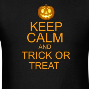keep calm and trick or treat Halloween T-Shirts - Men's T-Shirt