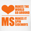MS Makes the World Spin - Men's T-shirt (Orange) - Men's T-Shirt