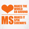 MS Makes the World Spin - Women's  Long Sleeve (Orange) - Women's Long Sleeve Jersey T-Shirt