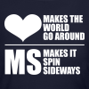 MS Makes the World Spin - Women's  Long Sleeve - Women's Long Sleeve Jersey T-Shirt