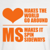 MS Makes the World Spin - Men's  Long Sleeve (Orange) - Men's Long Sleeve T-Shirt