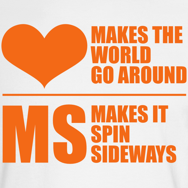 MS Makes the World Spin - Men's  Long Sleeve (Orange)