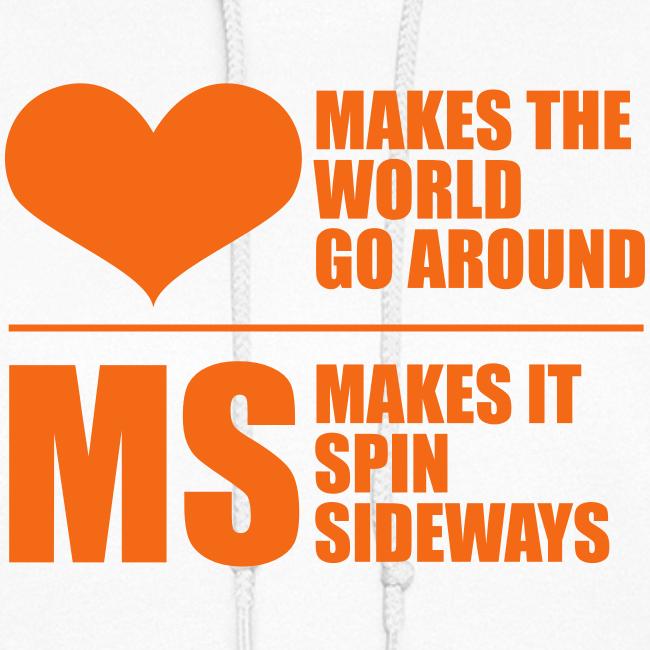MS Makes the World Spin - Women's Hoodie (Orange)