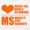 MS Makes the World Spin - Men's Tank Top (Orange) - Men's Premium Tank