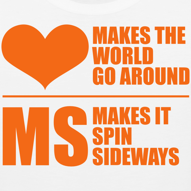 MS Makes the World Spin - Men's Tank Top (Orange)