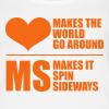 MS Makes the World Spin - Women's Tank Top (Orange) - Women's Premium Tank Top