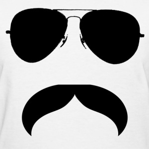 Mustache With Glasses - Women's T-Shirt