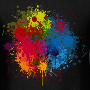 Abstract Paint Splatter T-Shirts - Men's T-Shirt