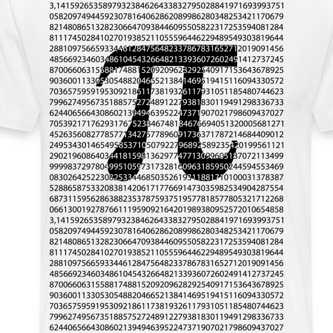 Dimkadnb Original Black Number Pi Day Mathematical Symbol Mens